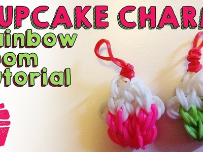 Cupcake Charm EASY Rainbow Loom Tutorial