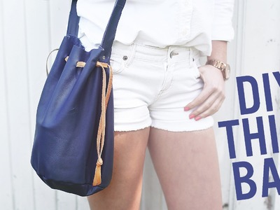 DIY BUCKET BAG. PURSE FOR SUMMER