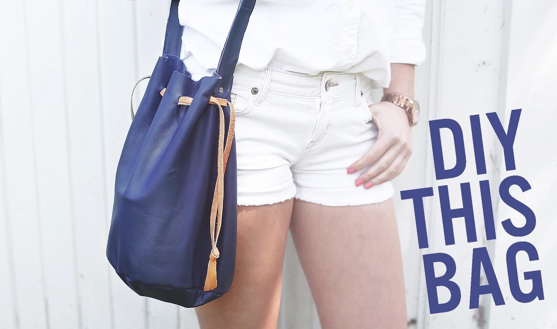 DIY BUCKET BAG. PURSE FOR SUMMER