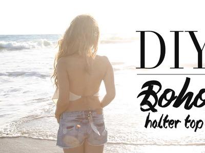 DIY Cute Boho Halter Top {NO SEW} | ANNEORSHINE