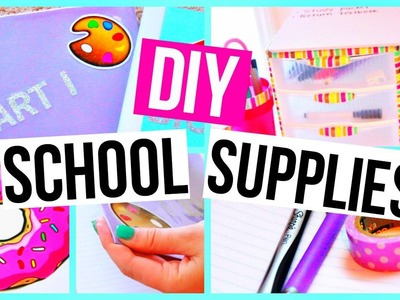 DIY EASY Back To School Supplies! Binders, Agendas, and More!