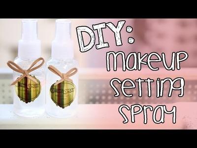 ➳ DIY: Makeup Setting Spray