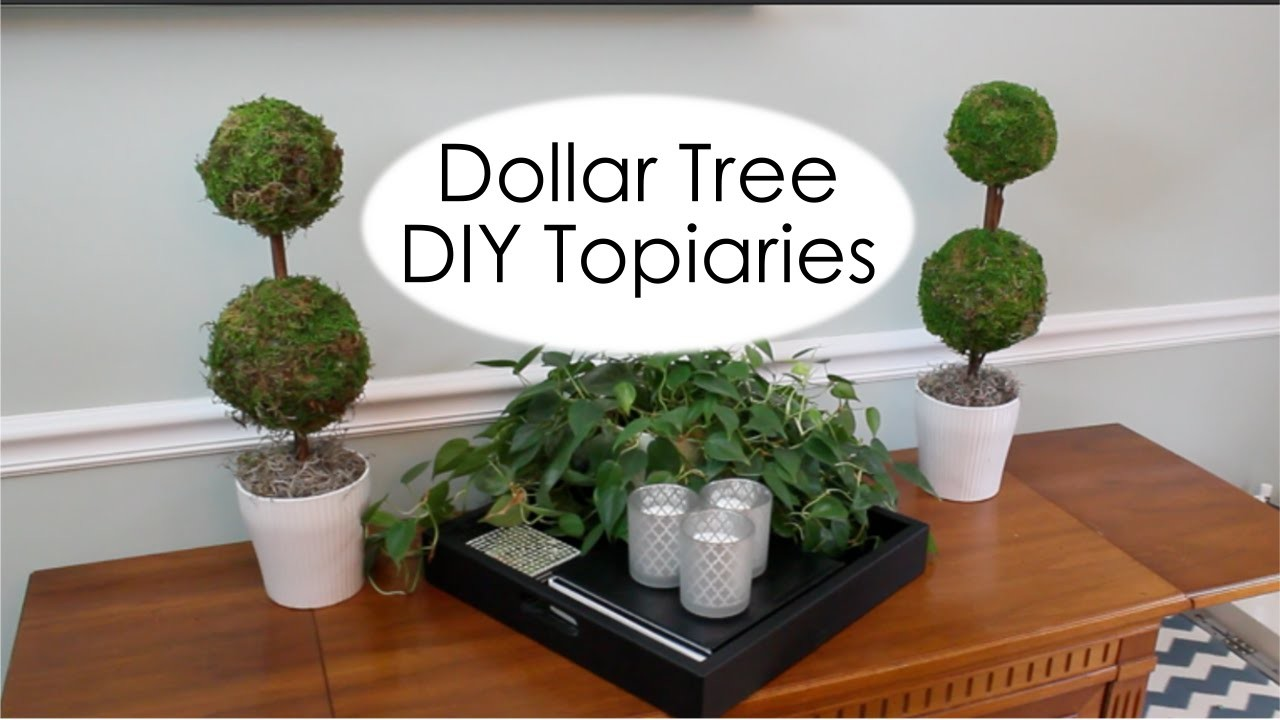 Dollar Tree Decor | Pottery Barn Inspired Topiary