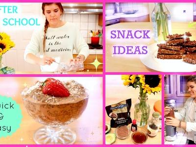 Healthy & Easy After School Snack Ideas!