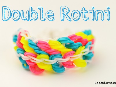 How to Make a Rainbow Loom Double Rotini Bracelet (One Loom)