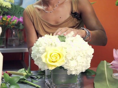 How to Make Cube Vase Centerpieces : Wedding Flowers & Centerpieces