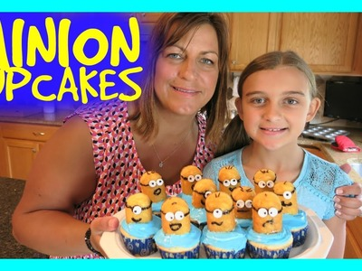 HOW TO MAKE THE CUTEST MINION CUPCAKES