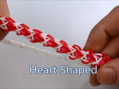 How to make the Heart Shaped (Sweetheart) bracelet on the Rainbow Loom