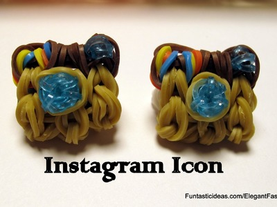 Instagram Icon Charm - How to Rainbow Loom Design