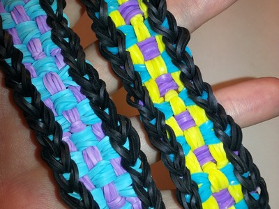 Long Checkerboard Bracelet Tutorial by feelinspiffy (Rainbow Loom)