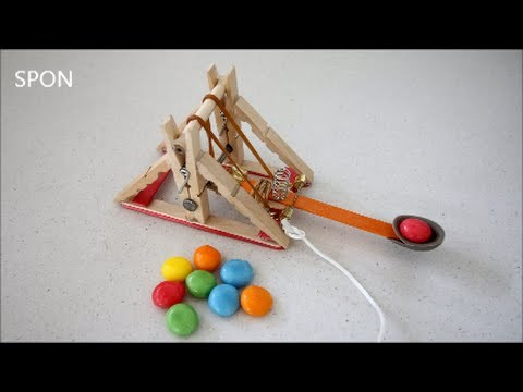 Make A Mini Candy Launching Catapult!