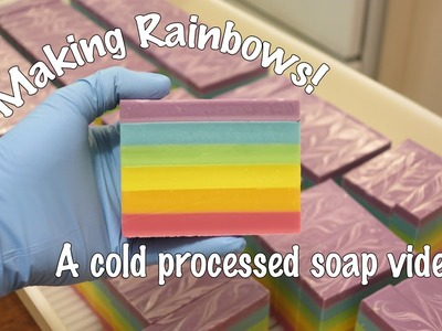 Making Rainbows - A Cold Process Soap Video