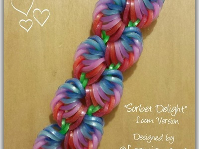 """New"" Sorbet Delight"" Rainbow Loom Bracelet. How To Tutorial"