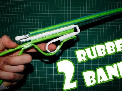 Paper Gun that Shoots 2 Rubber Bands - (Paper Shotgun)