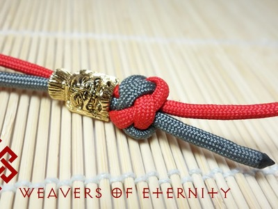 Paracord Lanyard Knot. Two Strand Diamond Knot Tutorial - EASY METHOD