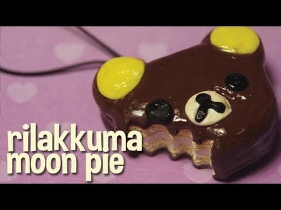 Polymer Clay Rilakkuma Moon Pie