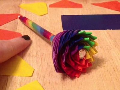 Rainbow Duct Tape Flower-Tutorial