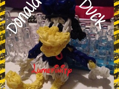 Rainbow Loom bands Donald Duck - Disney Mickey Mouse Clubhouse figure by Lumefinity - How to