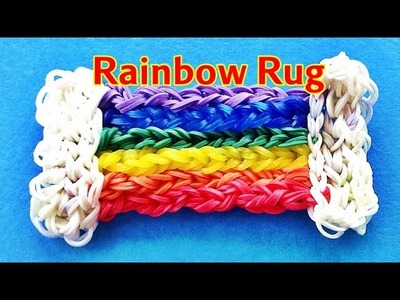 "Rainbow Loom Charms:  ""Rainbow Rug"" Loom bands tutorial (by my 9 Year old son)"