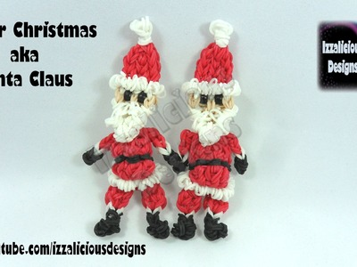 Rainbow Loom (Christmas.Xmas) Santa Claus Action Figure.Charm - © Izzalicious Designs 2014