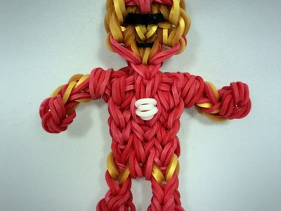 Rainbow Loom Ironman Action Figure.Charm Tutorial