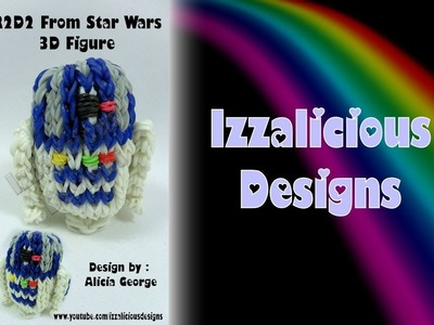 Rainbow Loom R2-D2 (R2D2) 3D Robot Action Figure.Charm From Star Wars - Gomitas