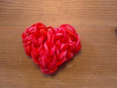 Tuto Rainbow Loom coeur. heart ( By Raya)