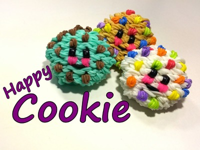 3-D Happy Cookie Tutorial by feelinspiffy (Rainbow Loom)