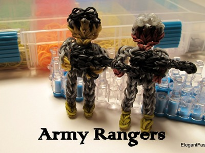 Army Ranger Action Figure.Charm - How to - Rainbow Loom