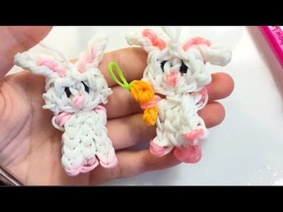 Bunny Charm || Rainbow Loom Tutorial