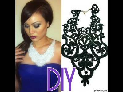 DIY BIB NECKLACE - CHEAP & EASY!