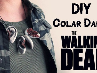 DIY: Como Fazer COLAR de ORELHAS do DARYL - THE WALKING DEAD Ears Necklace