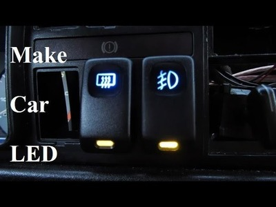 DIY How to make a Vw Golf 2. Jetta 2 LED dipped-beam Car LED Lights switch 12v