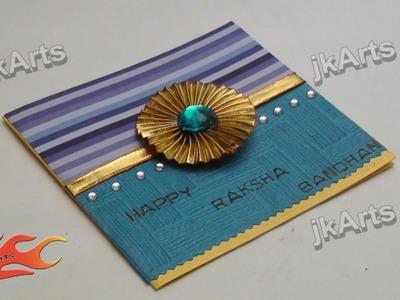 DIY How to make Greeting Card for Raksha Bandan - JK Arts  301