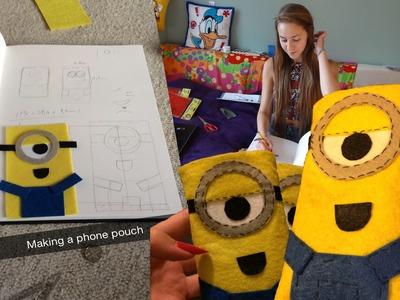 DIY Minion Phone Case.Pouch (Despicable Me)