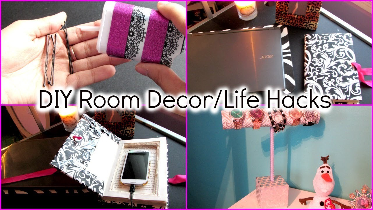 Diy room decor for cheap pinterest amp tumblr inspired youtube - Ideas For Your Room Tumblr A Wall Decal