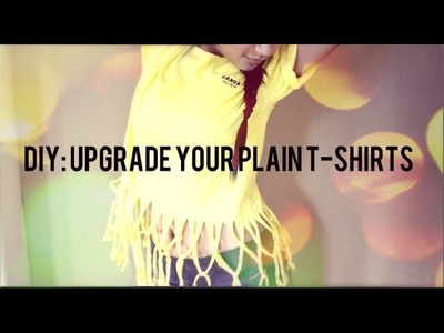 DIY: Upgrade Your Plain T Shirts!