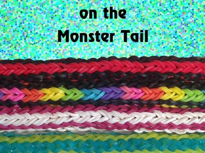 Double Cross Single Braid Reversible Bracelet- Monster Tail - Rainbow Loom