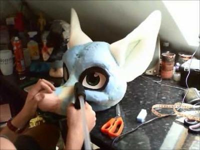 Fursuit Head Tutorial - Time Lapse - Part 3 - Furring.fleecing 1