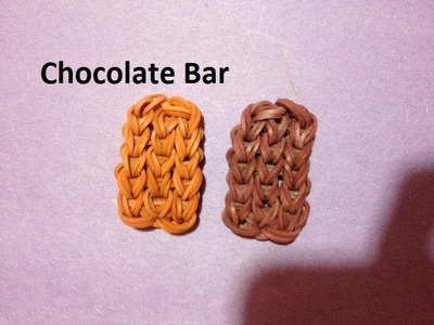 How to Make a Chocolate Bar Charm on the Rainbow Loom - Original Design