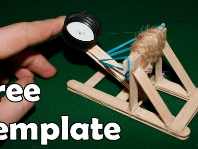 How to make a mini catapult - (Medieval Toy)