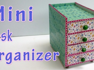 How to make a Mini Desk Organizer - Ana | DIY Crafts.