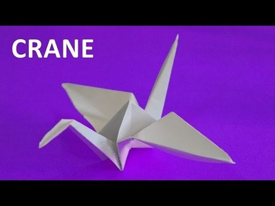 How to make a paper crane. Origami tutorials. Educational videos for children