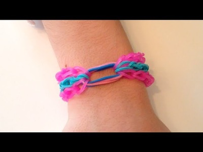 How to Make a Rainbow Loom Bracelet - Treasure Hole (Middle Ring)