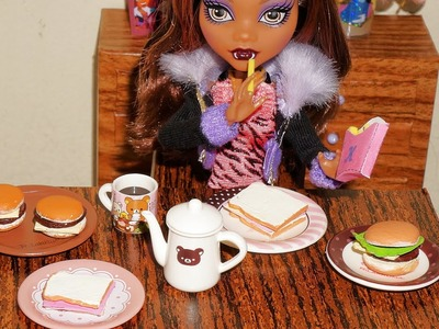 How to make hamburger and ham & cheese sandwich (with hot glue) for doll (Monster High, Barbie, etc)