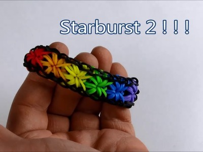 How to make the Starburst2 bracelet on the Rainbow Loom Pattern