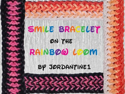 New Smile Bracelet - Reversible - Rainbow Loom, Fun Loom, Bandaloom, Crazy Loom