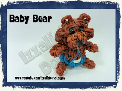 Rainbow Loom 3D Baby Bear Action Figure.Charm - Gomitas
