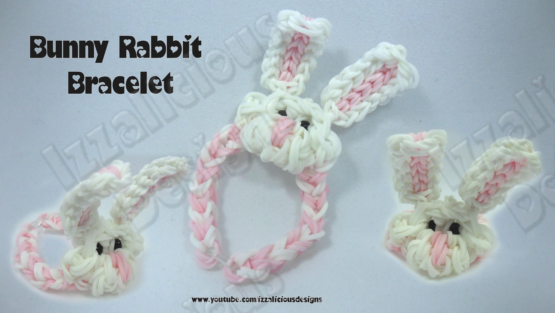 Rainbow Loom Bunny Rabbit Charm Bracelet