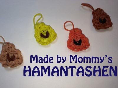 Rainbow Loom Charm:  Hamentashen Cookies for Purim